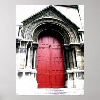 Door to Sacre Coeur Poster