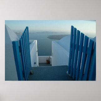 Door to Santorini Poster