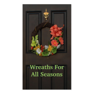 Door Wreath Custom Florist Business Card