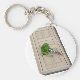 DoorAndGreenDoorknob021411 Basic Round Button Key Ring