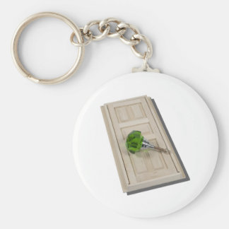 DoorAndGreenDoorknob021411 Basic Round Button Key Ring