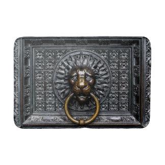 Doorknocker Lion - Black / Gold Bath Mat