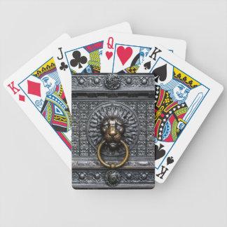 Doorknocker Lion - Black / Gold Bicycle Playing Cards
