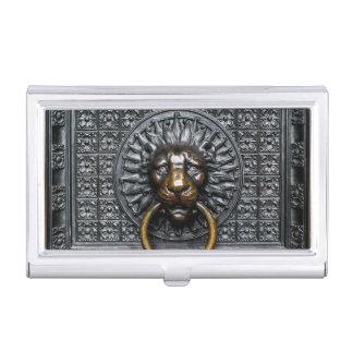 Doorknocker Lion - Black / Gold Business Card Holder
