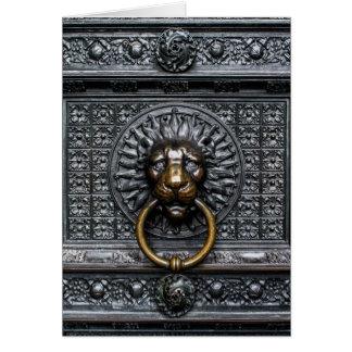 Doorknocker Lion - Black / Gold Card