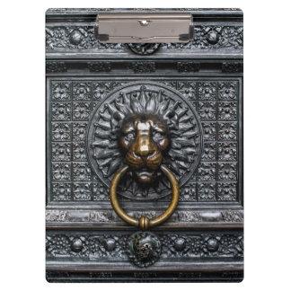 Doorknocker Lion - Black / Gold Clipboard