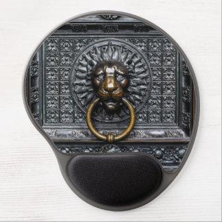 Doorknocker Lion - Black / Gold Gel Mouse Pad