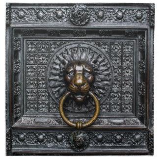 Doorknocker Lion - Black / Gold Napkin