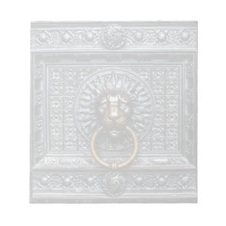 Doorknocker Lion - Black / Gold Notepad
