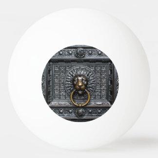 Doorknocker Lion - Black / Gold Ping Pong Ball