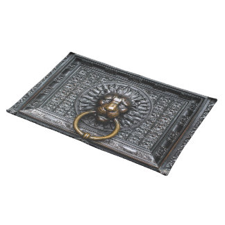Doorknocker Lion - Black / Gold Placemat