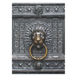 Doorknocker Lion - Black / Gold Tablecloth