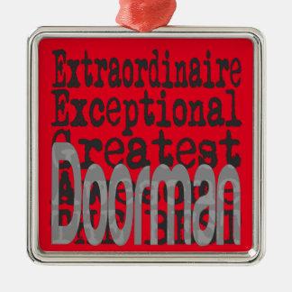 Doorman Extraordinaire Silver-Colored Square Decoration