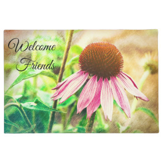 "Doormat ""Welcome Friends"" with Flower"