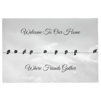 """Doormat """"Welcome To Our Home Where Friends Gather"""""""