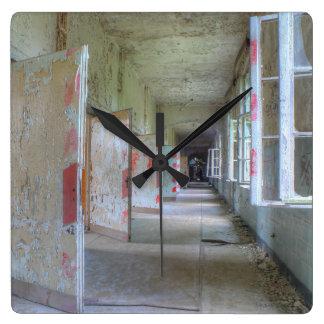 Doors and Corridors 02.1.2, Lost Places, Beelitz Square Wall Clock