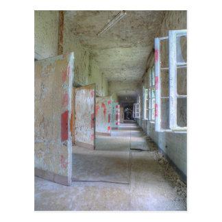 Doors and Corridors 02.1, Lost Places, Beelitz Postcard