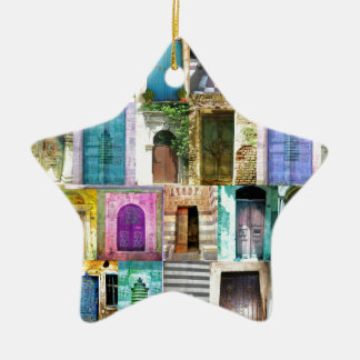 Doors and Windows from Around the World Ceramic Star Decoration