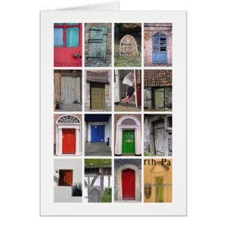 Doors greetings card