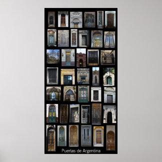 Doors of Argentina Poster