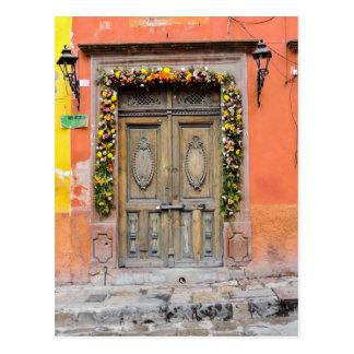 Doors of San Miguel De Allende Mexico Historic Postcard