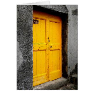 Doors of the Cinque Terre Note Card