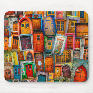 Doors of the World Mouse Pad