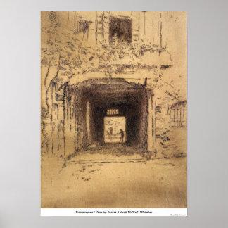 Doorway and Vine by James Abbott McNeill Whistler Poster