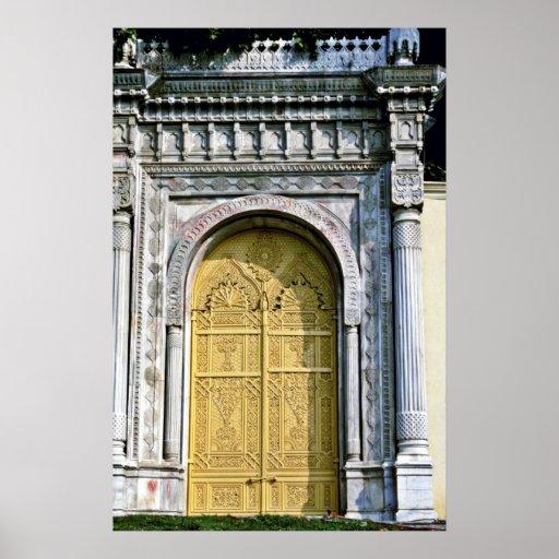 Doorway, Ciragan Palace - Istanbul Poster
