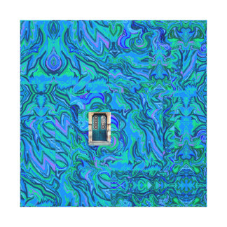 Doorway into Multi-Layers of Water Art Collage Canvas Print