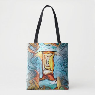 Doorway to beyond, abstract expression dreamscape tote bag