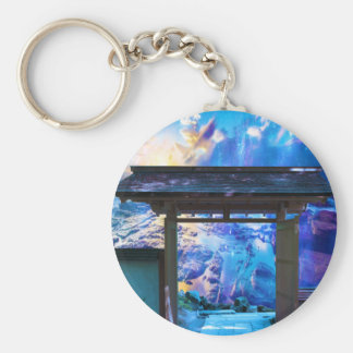 Doorway to Heaven Basic Round Button Key Ring