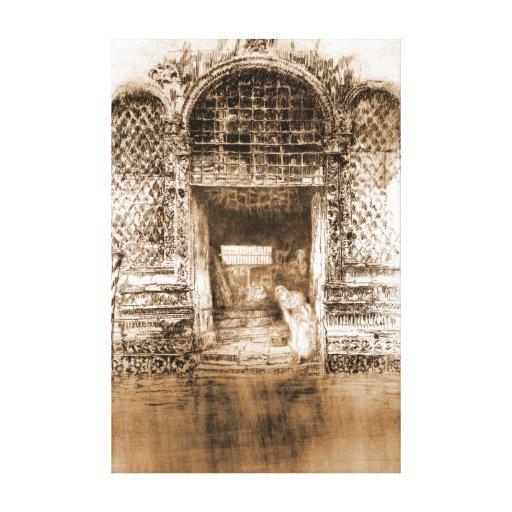 Doorway Venice Italy 1880 Canvas Prints
