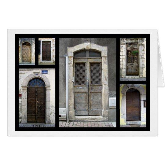 Doorways in France Card
