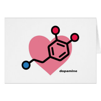 dopamine heart greeting card
