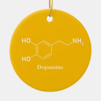 Dopamine Molecule Chemistry Cool Ceramic Ornament