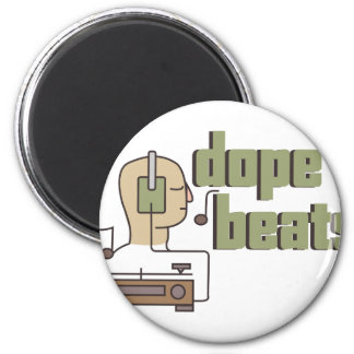 Dope Beats 6 Cm Round Magnet