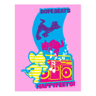 Dope Beats Happy Feets Postcard