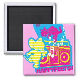 Dope Beats Happy Feets Square Magnet