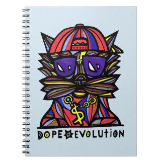 """""""Dope Evolution"""" Spiral Notebook"""