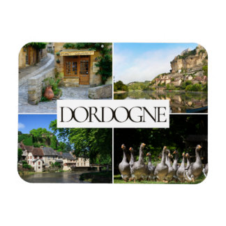 Dordogne landscapes collage travel photo magnet