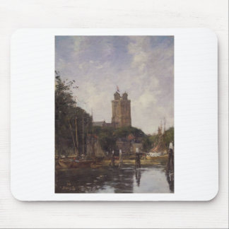 Dordrecht, The Great Church from the Canal by Euge Mouse Pad