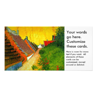Dorfstrasse at Sainte-Maries painting by Van Gogh Customised Photo Card