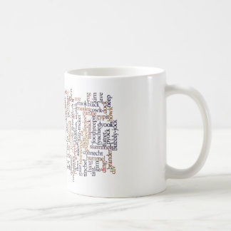 Doric Mug With Word Cloud