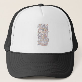 Doric Word Map Trucker Hat
