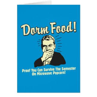 Dorm Food: Survive Microwave Popcorn Greeting Cards