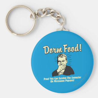Dorm Food: Survive Microwave Popcorn Key Chain