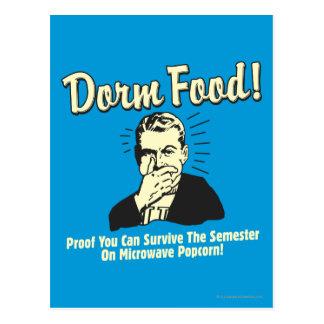 Dorm Food: Survive Microwave Popcorn Postcard