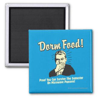 Dorm Food: Survive Microwave Popcorn Square Magnet