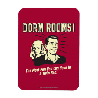 Dorm Room Most Fun Twin Bed Rectangle Magnets